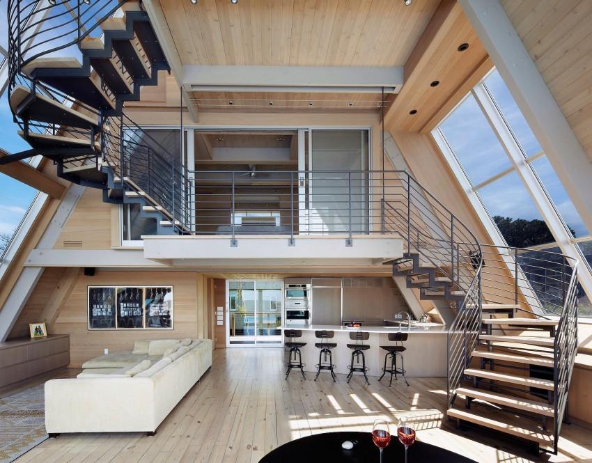 Esta casa de al lado de la playa reinventa el diseño irónico de los 60 7