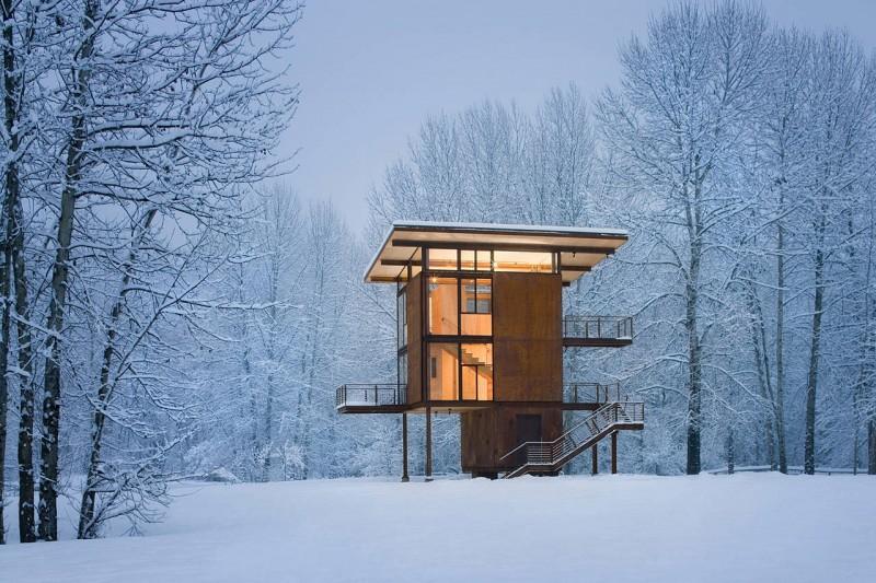 Esta estupenda cabaña en Washington tiene de todo para las excursiones a la montaña 1