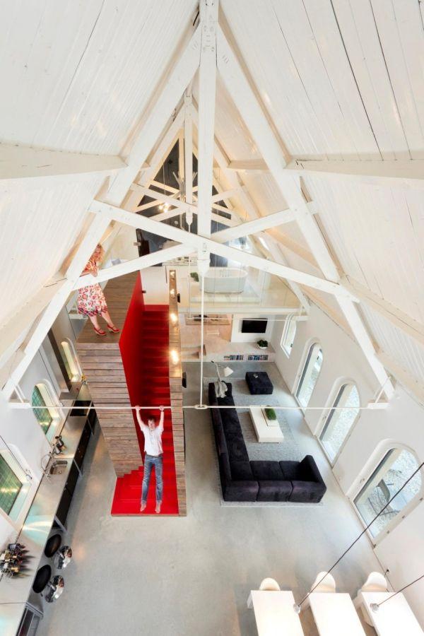 Histórica iglesia convertida en una casa privada en Holanda 7