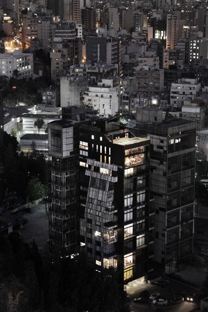 Residencia en Beirut construida sobre una estructura existente 1
