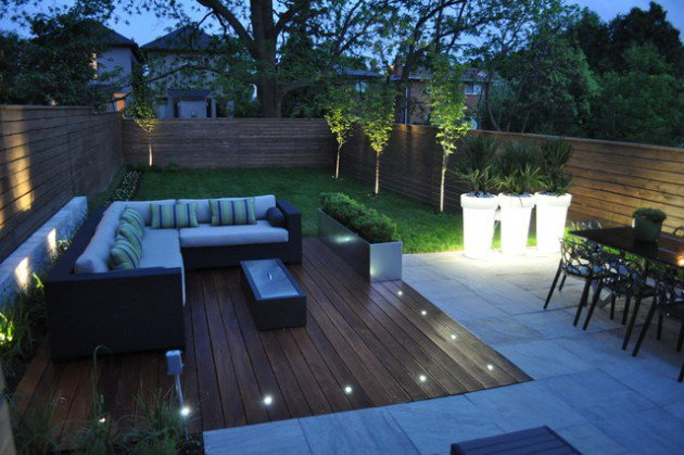 21 ideas para decorar nuestro patio interior aportando un for Decoracion de patios modernos