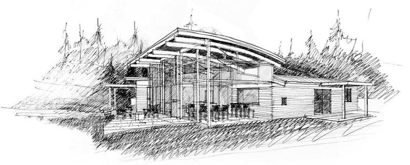 casa techo curvo 16