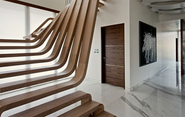 20 sorprendentes dise os de escaleras que te sorprender n for Gradas de madera para exteriores
