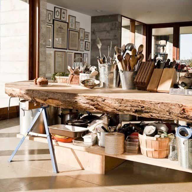 20 ideas para reciclar troncos de rboles y decorar tu - Colocar piedra en pared ...