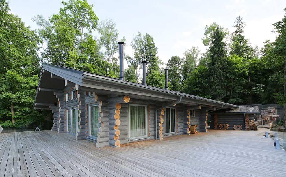 casa campo troncos madera 1