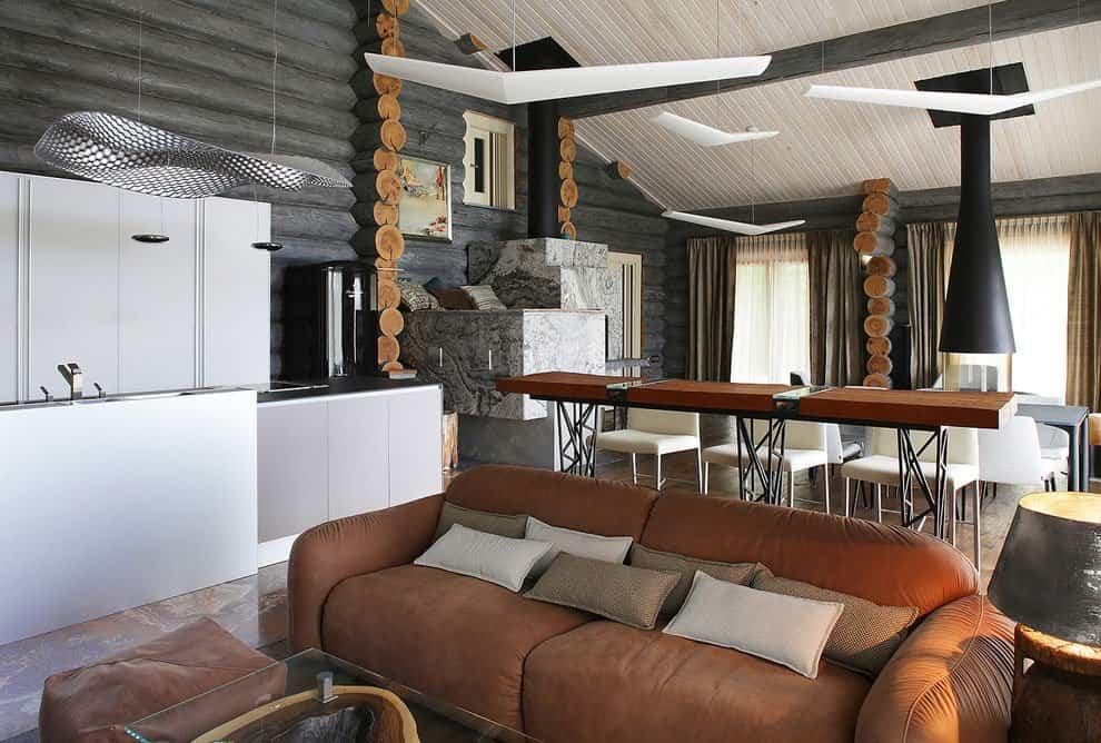 casa campo troncos madera 11