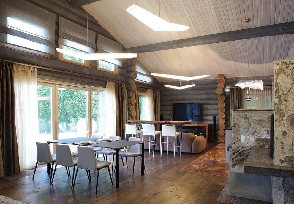 casa campo troncos madera 12