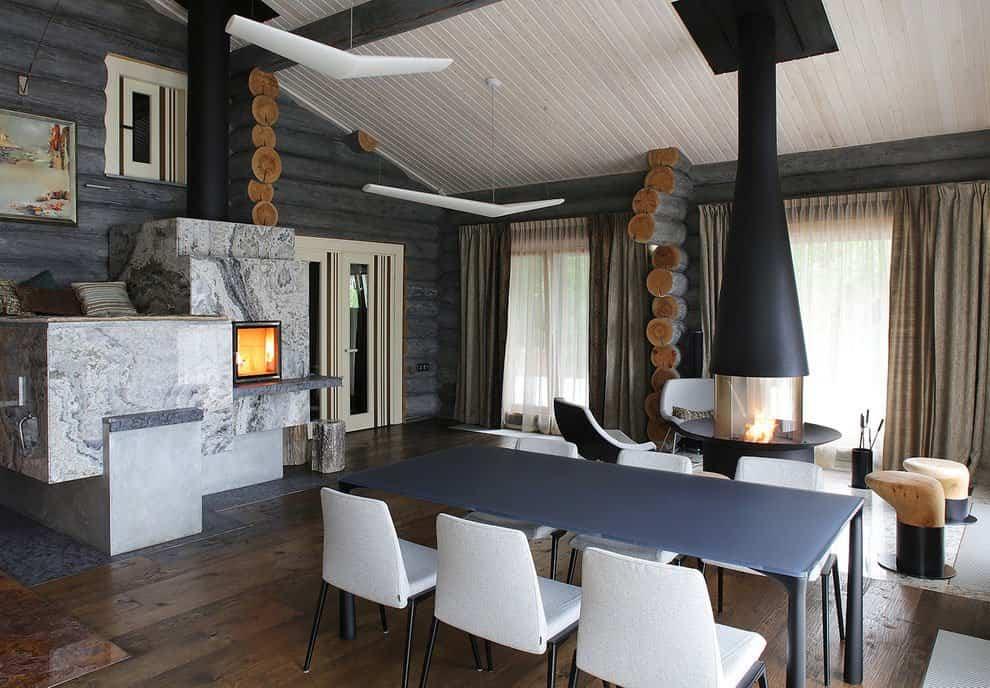 casa campo troncos madera 13