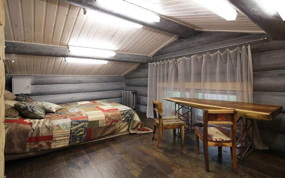 casa campo troncos madera 15
