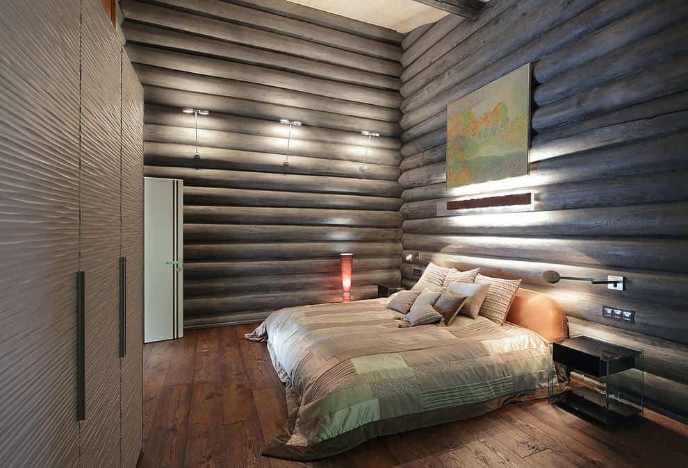 casa campo troncos madera 16