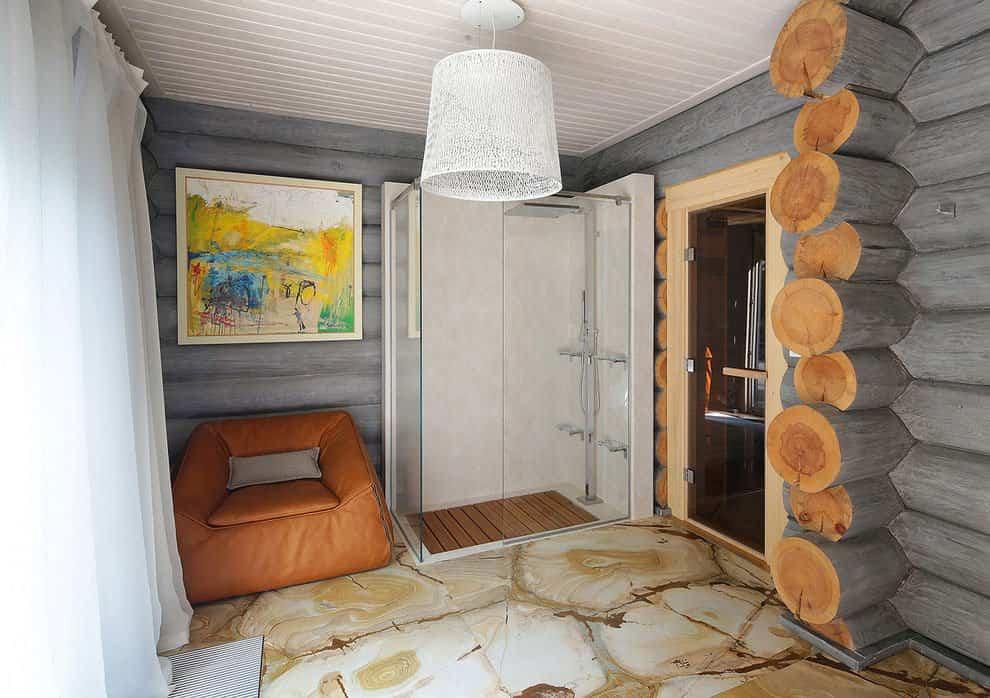 casa campo troncos madera 17