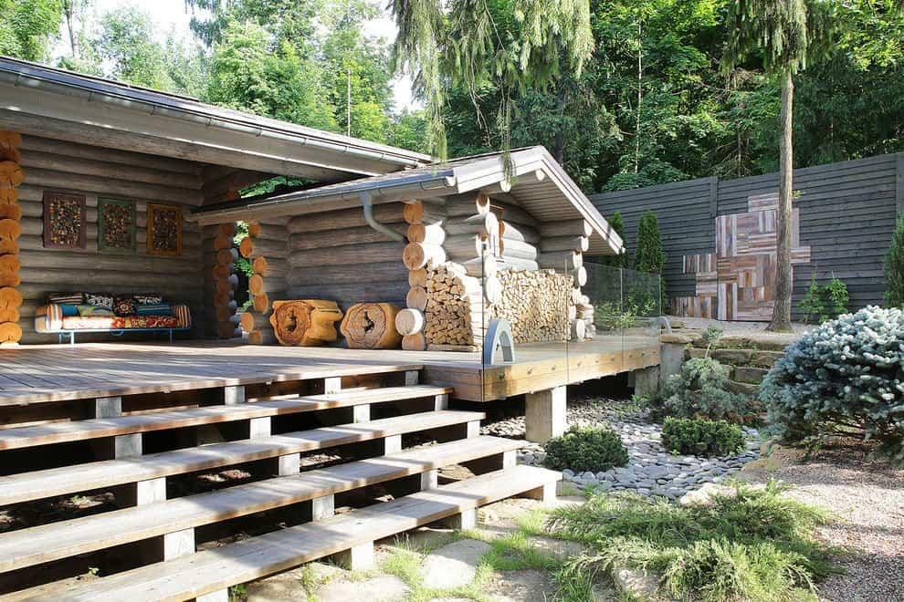 casa campo troncos madera 2