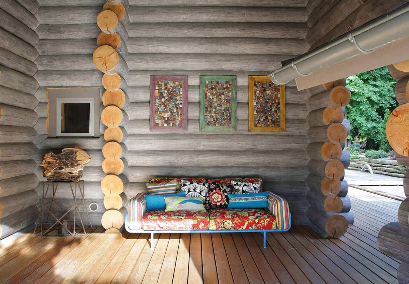 casa campo troncos madera 4