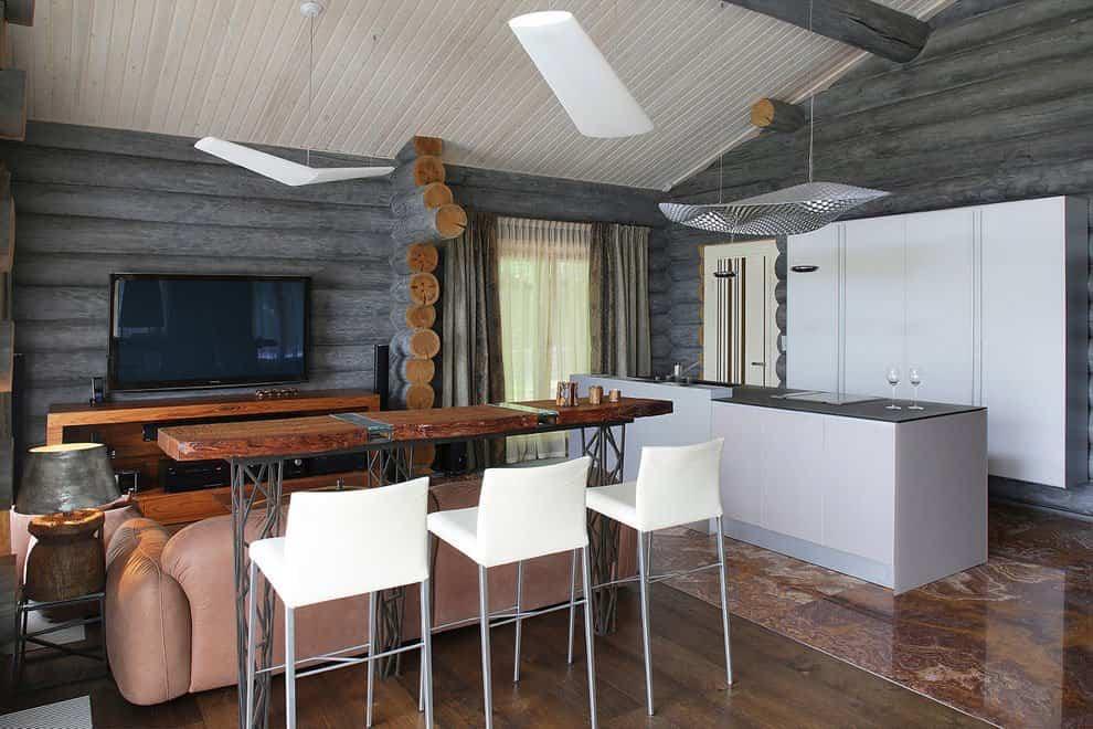 casa campo troncos madera 8