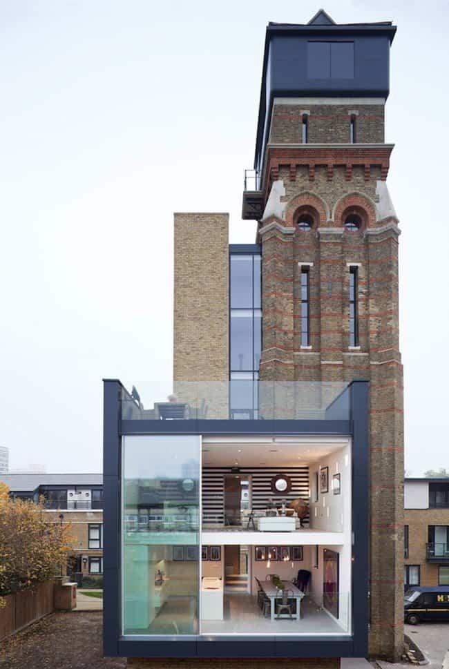 casa moderna en una vieja torre para agua 1
