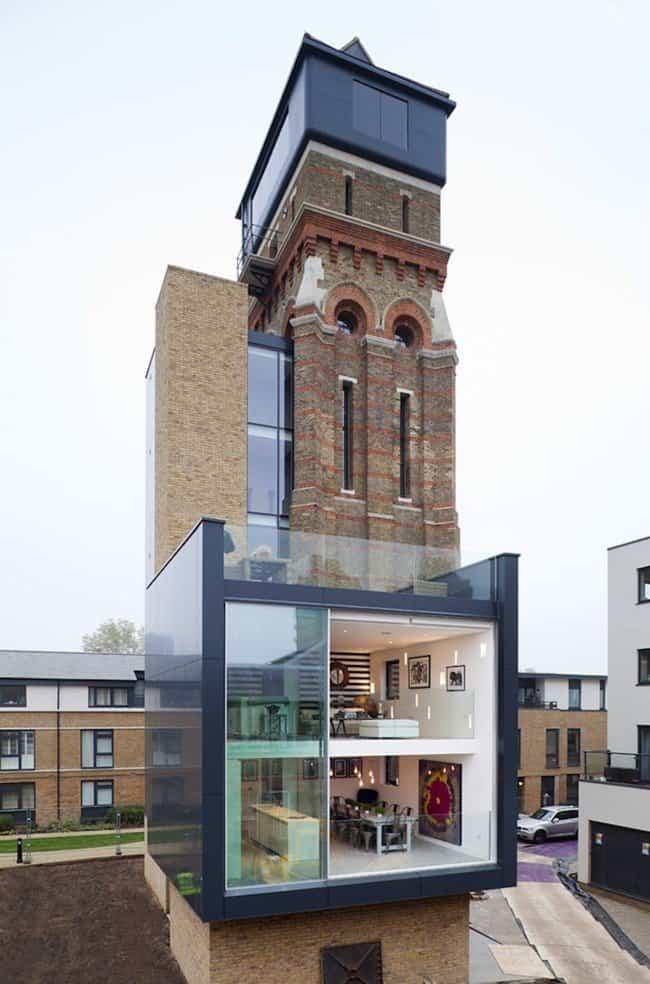 casa moderna en una vieja torre para agua 2