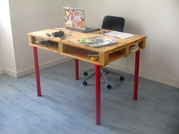 reciclar palets de madera escritorio infantil