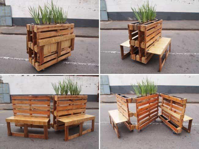 Aprende a reciclar palets de madera para convertirlos en muebles