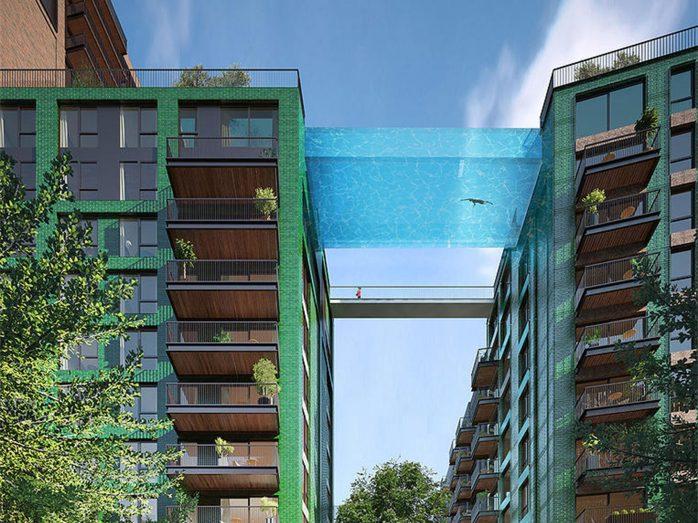 piscina para volar