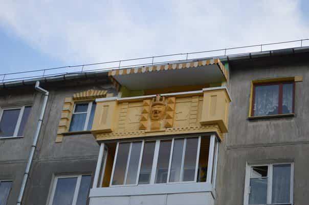 balcones diseñados en Rusia decoración ostentosa