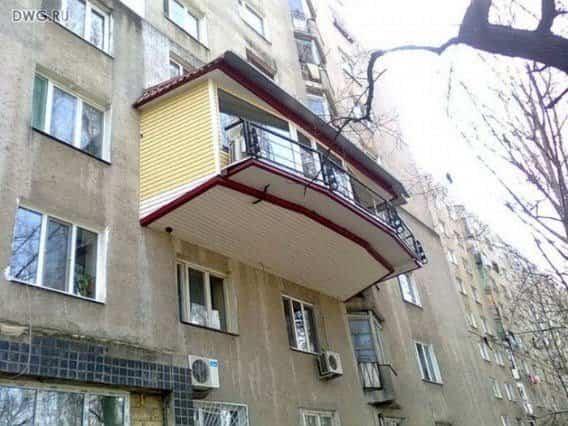 balcones diseñados en Rusia grandes