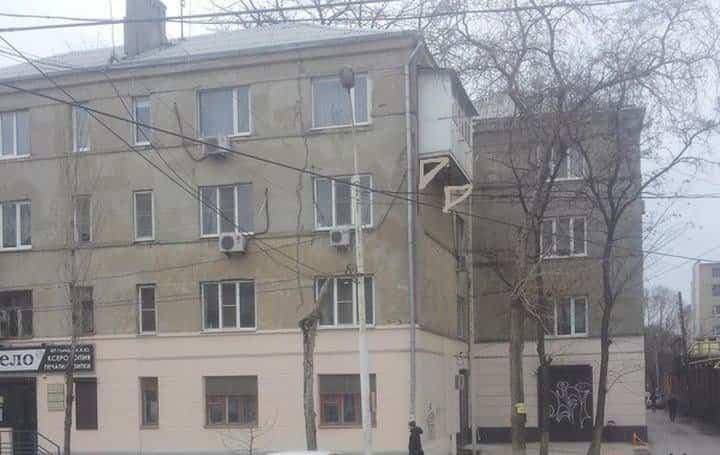 balcones diseñados en Rusia en edificios viejos