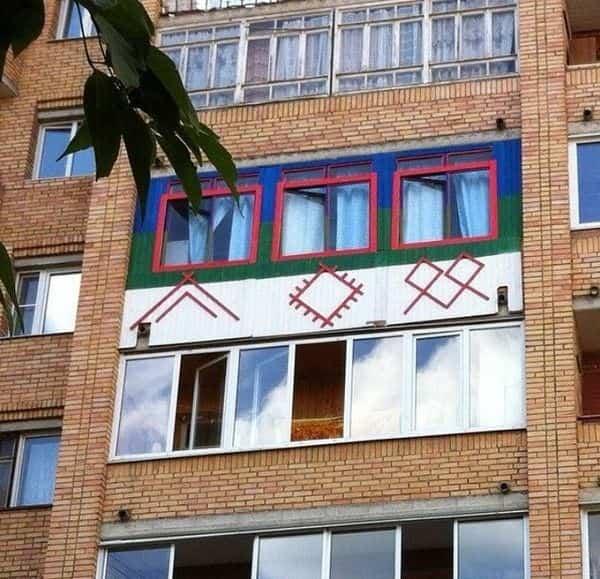 balcones diseñados en Rusia decoración llamativa
