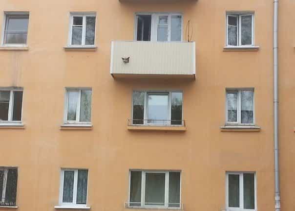 balcones diseñados en Rusia con cartón