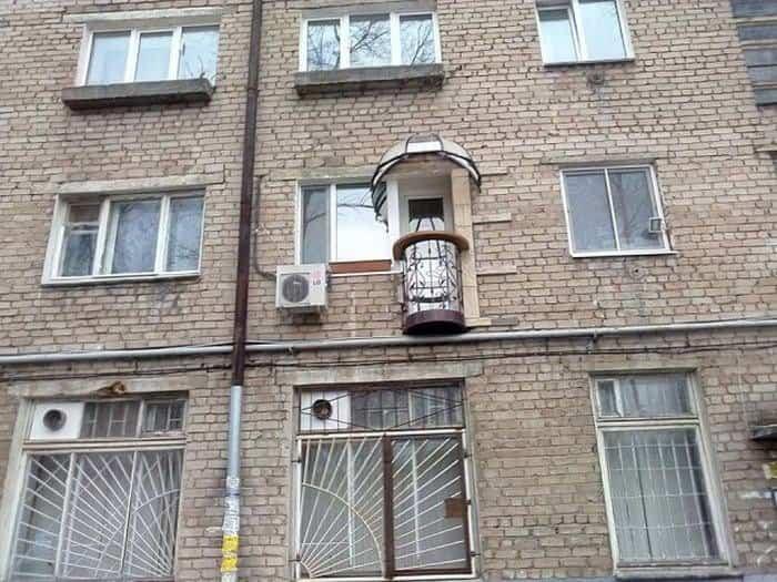 balcones diseñados en Rusia estrechos