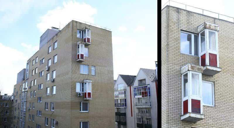 balcones diseñados en Rusia cabinas telefónicas