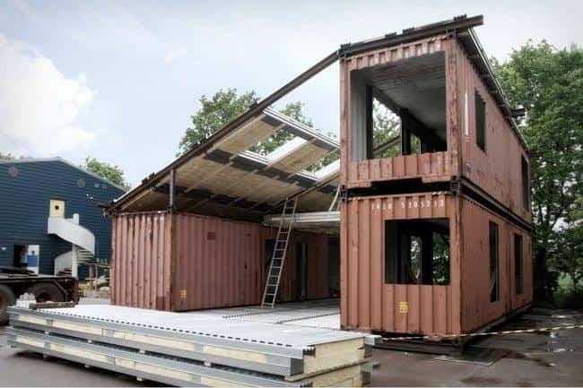 casa minimalista contenedores de transporte 2
