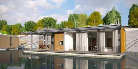 casas flotantes en el río Danubio ideales para una escapada romántica