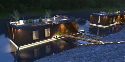 casas flotantes en el río Danubio donde contemplar el cielo estrellado