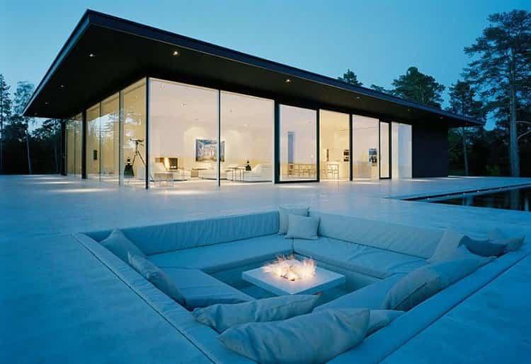 ideas para decorar tu hogar - área de descanso en el jardín