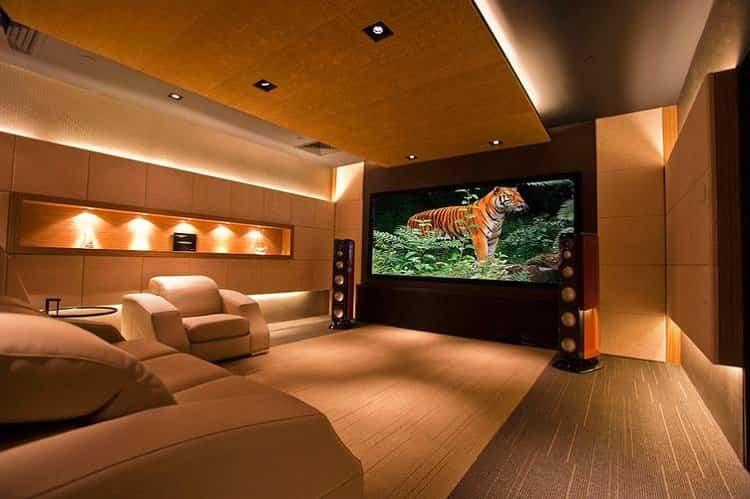 ideas para decorar tu hogar - cine en tu casa
