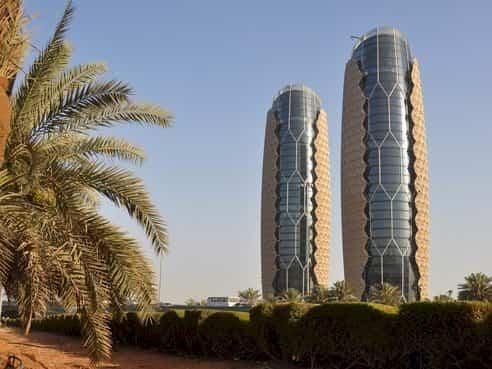 fachadas de edificios Al Bahar Towers
