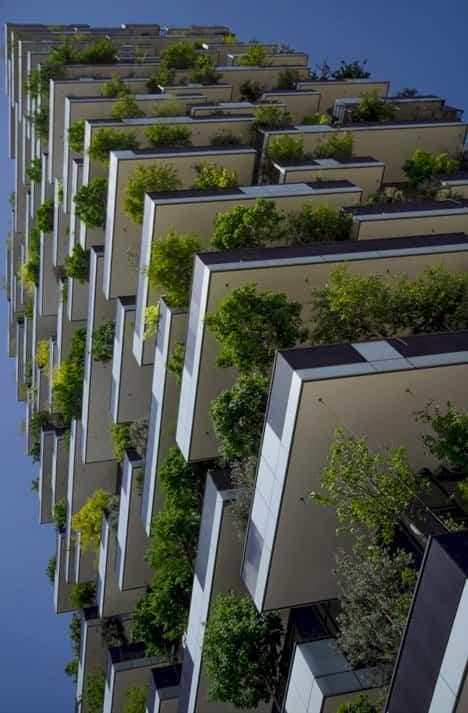 fachadas de edificios bosque vertical