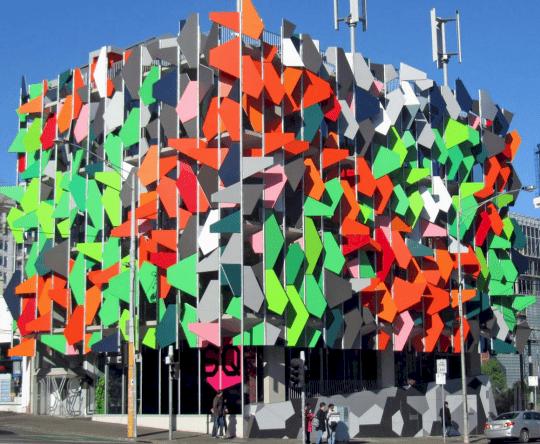 fachadas de edificios pixel
