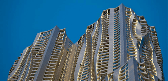fachadas de edificios New York By Gehry