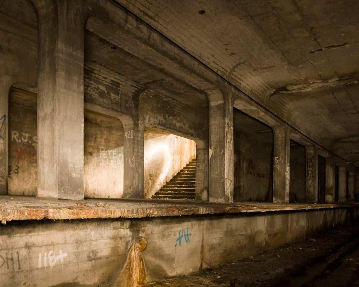 línea de metro abandonada en Cincinnati