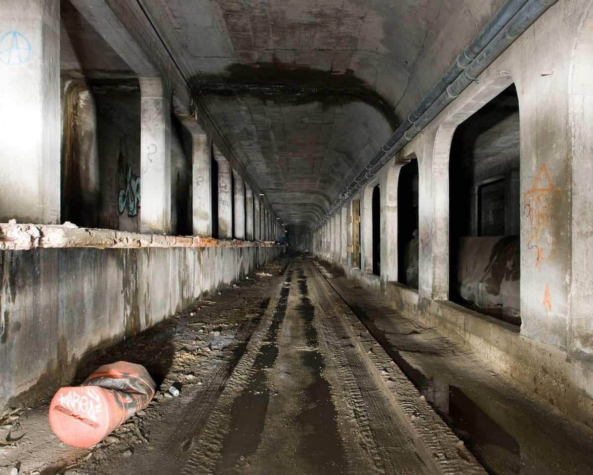 Una de las líneas del metro abandonado en Cincinnati