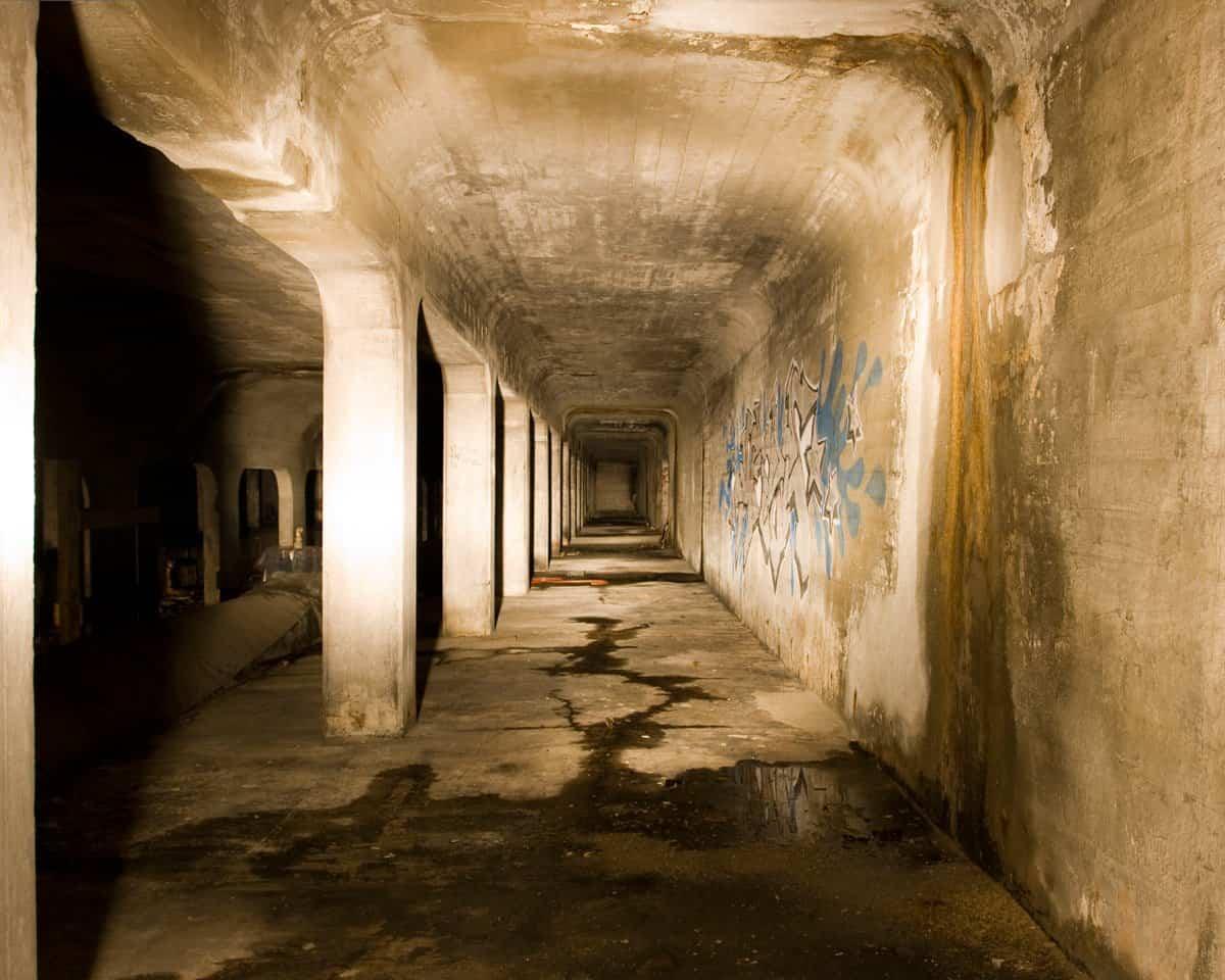 Estructura del metro de Cincinnati abandonada