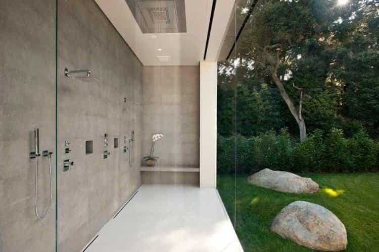 Duchas casa transparente