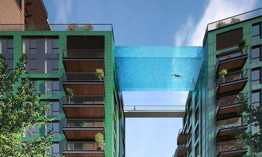 piscina a 35 metros de altura