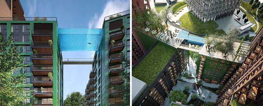 piscina de gran altura