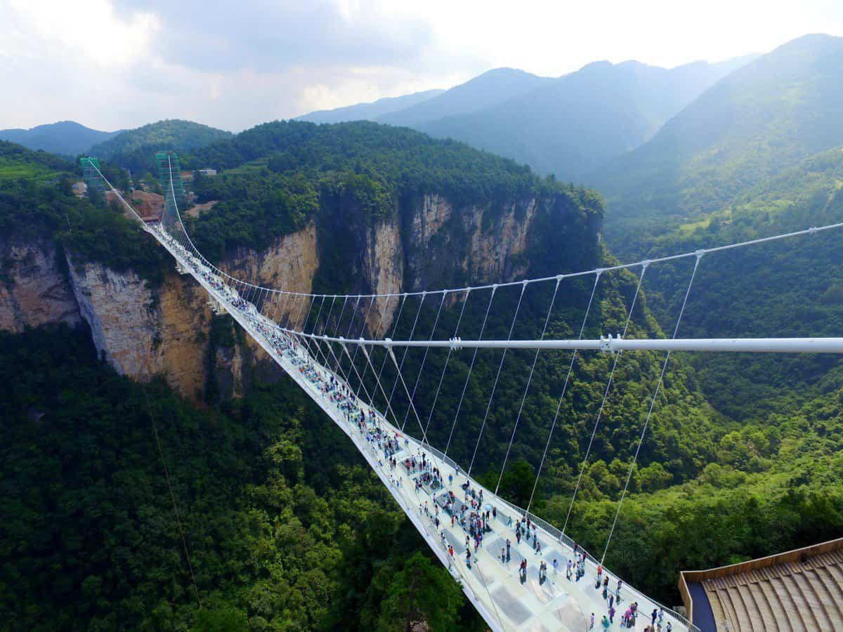 puente de cristal colgante en china