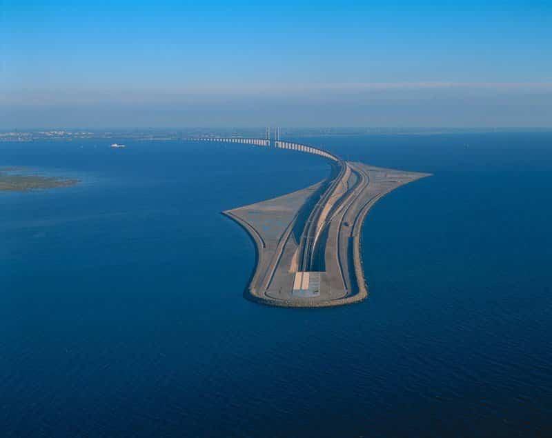 isla creada para la construcción del Puente Øresund