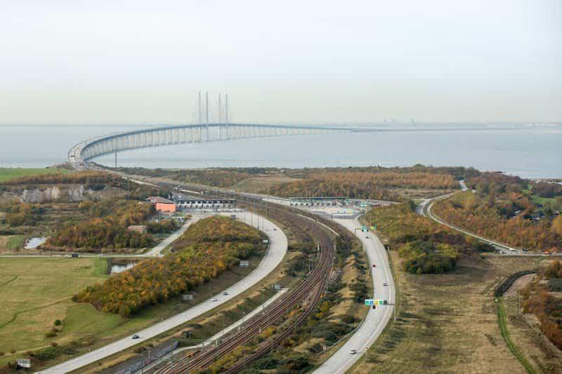 Puente Øresund visto desde tierra