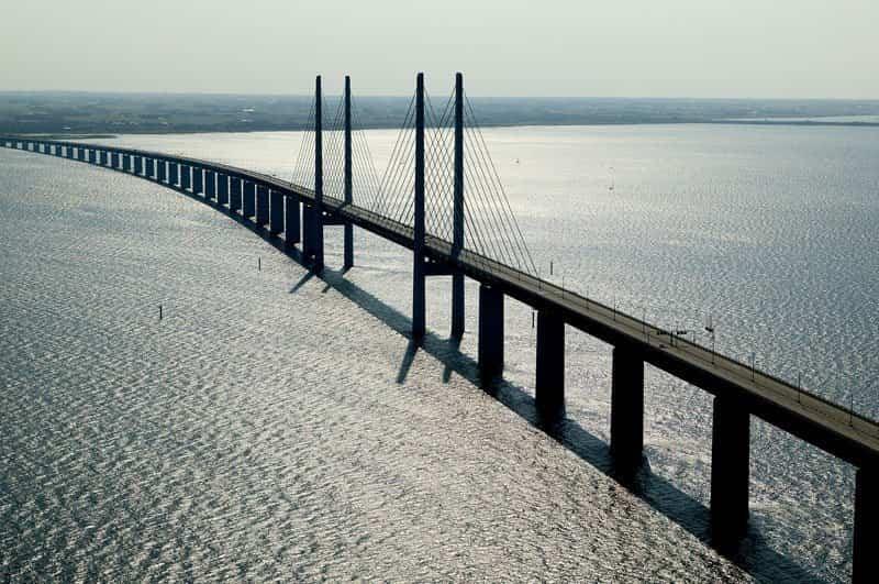 Puente Øresund visto desde el aire