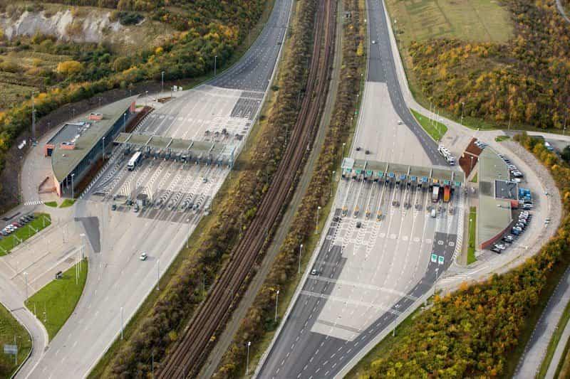 Zona de peaje del Puente Øresund